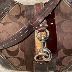 COACH Brown Signature Thin Hobo Style